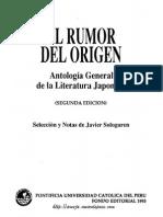Javier Sologuren El Rumor Del Origen Antologia de La Literatura Japonesa