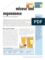 Alcohol Misuse and Dependence