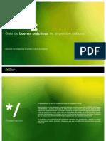 Guía de buenas prácticas para la gestión cultural