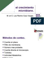 Midiendo el crecimiento microbiano
