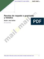 Recetas Raspado Granizado Helados 27275