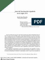 La literatura de fascinacion española en el siglo XVI