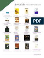 Oprah Book Club Complete List