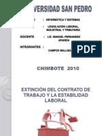 extinciondelcontratodetrabajo-101207192149-phpapp01.ppt