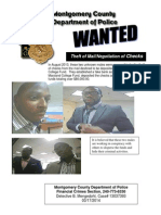 Theft of Mail Wanted Poster