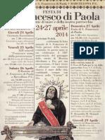 San Francesco Di Paola 2014