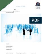 Gestão das PME trabalho
