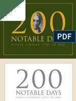 200 Notable Days - Senate Stories 1787-2002