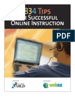834 Tips for Successful Online Instruction