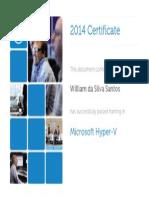 Certificado - Microsoft Hyper-V