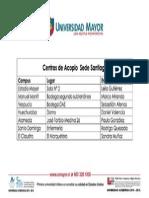 Centros de acopio sede Santiago por Incendio en Valparíso - Universidad Mayor