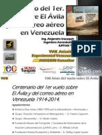 Conferencia 'Centenario del primer vuelo sobre El Ávila y del transporte de correo aéreo en Venezuela' (12 de Abril de 1914)