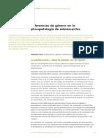 Diferencias Genero en Psicopatologias