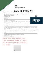 GCSE Maths Topics - Standard Form - Grade a A and B - Questions