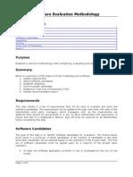 Software Evaluation Methodology