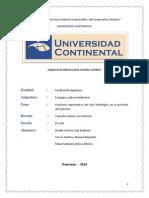 Trabajo Ciclo Hidrologico en Huacnayo