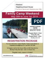 Family Camp Registration Package 2014