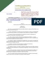 Decreto No 99.274, De 6 de Junho de 1990.