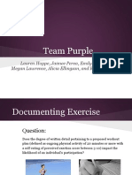 team purple powerpoint
