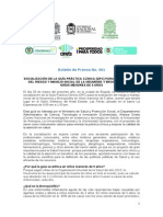 Boletín de Prensa GAI - No 001