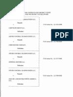 Cruise Control Technologies LLC v. Chrysler Group LLC, et al., 12-1755-GMS (D. Del. Mar. 31, 2012)
