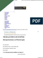 Trabajando los Sueños - La interpretación analítica de Jung Ruiz