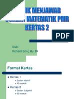 Teknik Menjawab Soalan Matematik Pmr