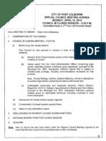 Port Colborne council agenda April 14