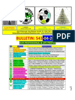 Bulletin 543 Quarter Finals - Finals of UEFA Club Champions - 2014