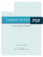 Cryogenic Air Separation for the Production of Nitrogen