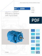 WEG Ieee Std 841 2009 Nema Premium Efficiency Motors With Inproseal Usaieee841 Brochure English