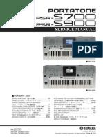 PSR-S700 / PSRS900 SERVICE MANUAL