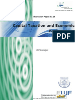 Martin Zagler. Capital Taxation and Economic Performance