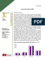 Istat - La povertà in Italia 2008 -30 luglio 2009