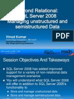 Beyond Relational SQL Server 2008