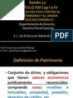 sesión 12 Delitos contra el Patrimonio y el Orden Socioeconómico