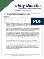 2010-08 Safety Bulletin Arc Flash