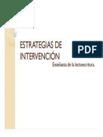 ESTRATEGIAS DE INTERVENCIÓN lectoescritura