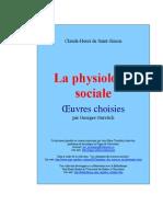 De Saint-Simon Claude-Henri - La Physiologie Sociale