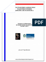 Magistério Estado do Rio de Janeiro 2007 a 2011 - provas resolvidas.