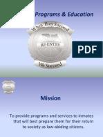 Reentry Programs