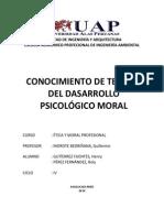 Conocimiento de Teorias Del Desarrollo Psicologico Moral