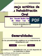 Manejo Esttico de La Rehabilitacin Oral
