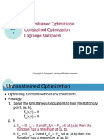 LU7 - Unconstrained and Constrained Optimization Lagrange Multiplier