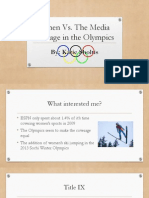 Women Vs. The Media Coverage in the Olympics