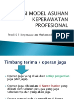 Aplikasi Model Asuhan Keperawatan Profesional