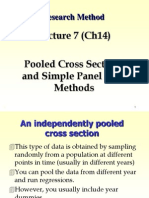 Pooled cross section data
