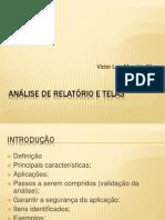 Análise de Relatório e Telas  Victor Luis