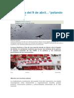 """La marcha del 9 de abril…""""pelando la cebolla"""""""