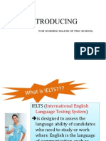 Ielts Introducing